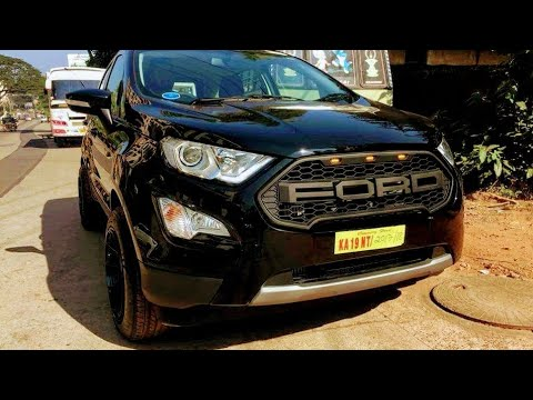 First Modified All New Ford Ecosport Absolute Black Color Youtube