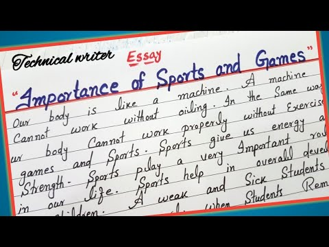Essay on importance of sports and games cover letter interview sample