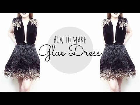 Glue black dress