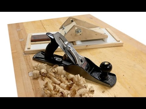 How To Sharpen A Plane Blade With My sharpening Jig