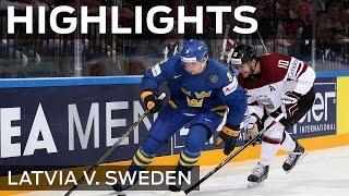 Stunning Sweden sweep past Latvia | #IIHFWorlds 2015