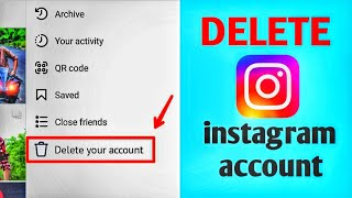 How to delete instagram account easily (permanent)