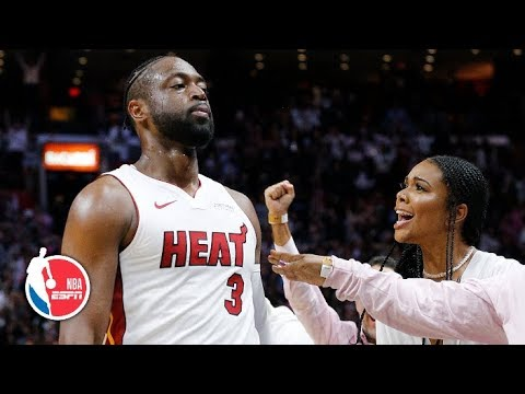 Dwyane Wade puts on a show in final game in Miami | 76ers vs. Heat | NBA Highlights