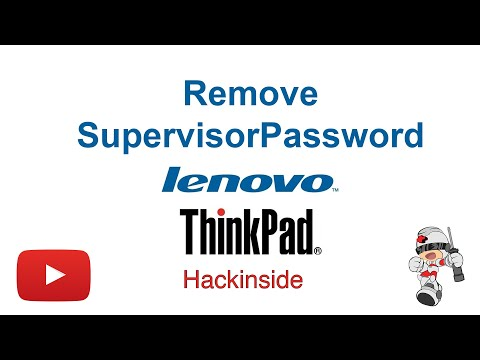 How To Remove Supervisor / Power-on Password From Lenovo