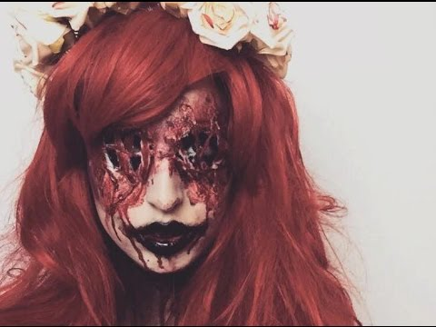 BLOODY MARY MAKE UP TUTORIAL HALLOWEEN ♡ SFX - YouTube