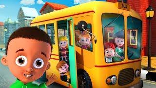 Wheels on the Bus | Schoolies Cartoons | Nursery Rhymes & Children Songs - Kids Channel