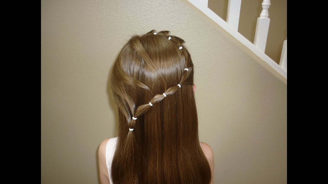 Elastic Snake Braid Flower Girl Hairstyles YouTube - Video girl hairstyle