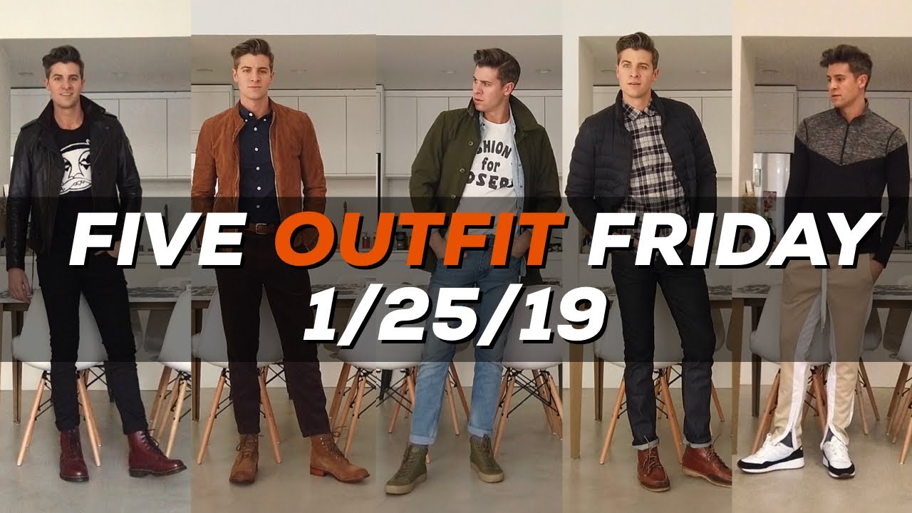 [VIDEO] – 5 EASY OUTFIT IDEAS | Men's Lookbook | Parker York Smith