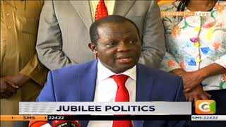 Jubilee Party address itself to lingering fall out