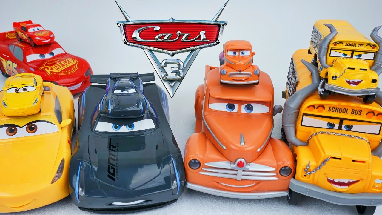 Funny Talking Cars Big Little Jackson Lightning Cruz Smokey