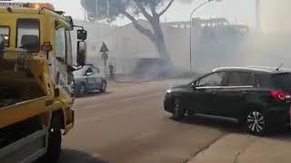 Vasto Marina: incendio sbarra la statale 16