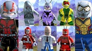 LEGO Marvel Super Heroes 2 EXTRAS #74 TODOS OS PERSONAGENS DA DLC DO HOMEM FORMIGA E A VESPA