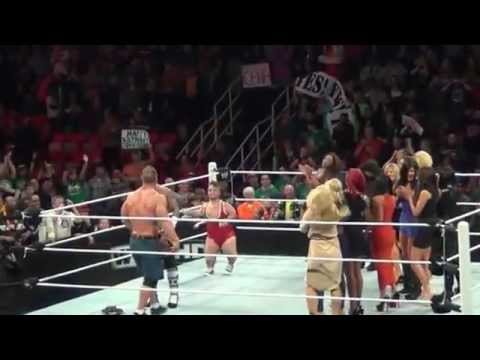Happy B-day John Cena WWE in Detroit 2012 Travel Video