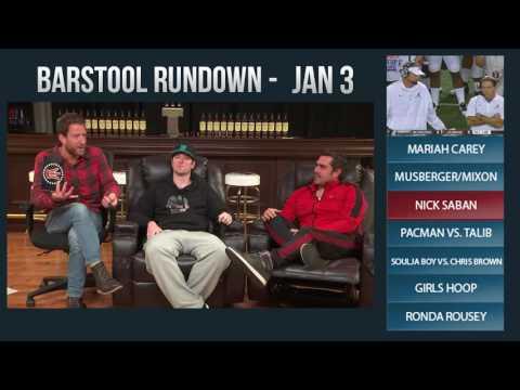 Barstool Rundown - January 3, 2017