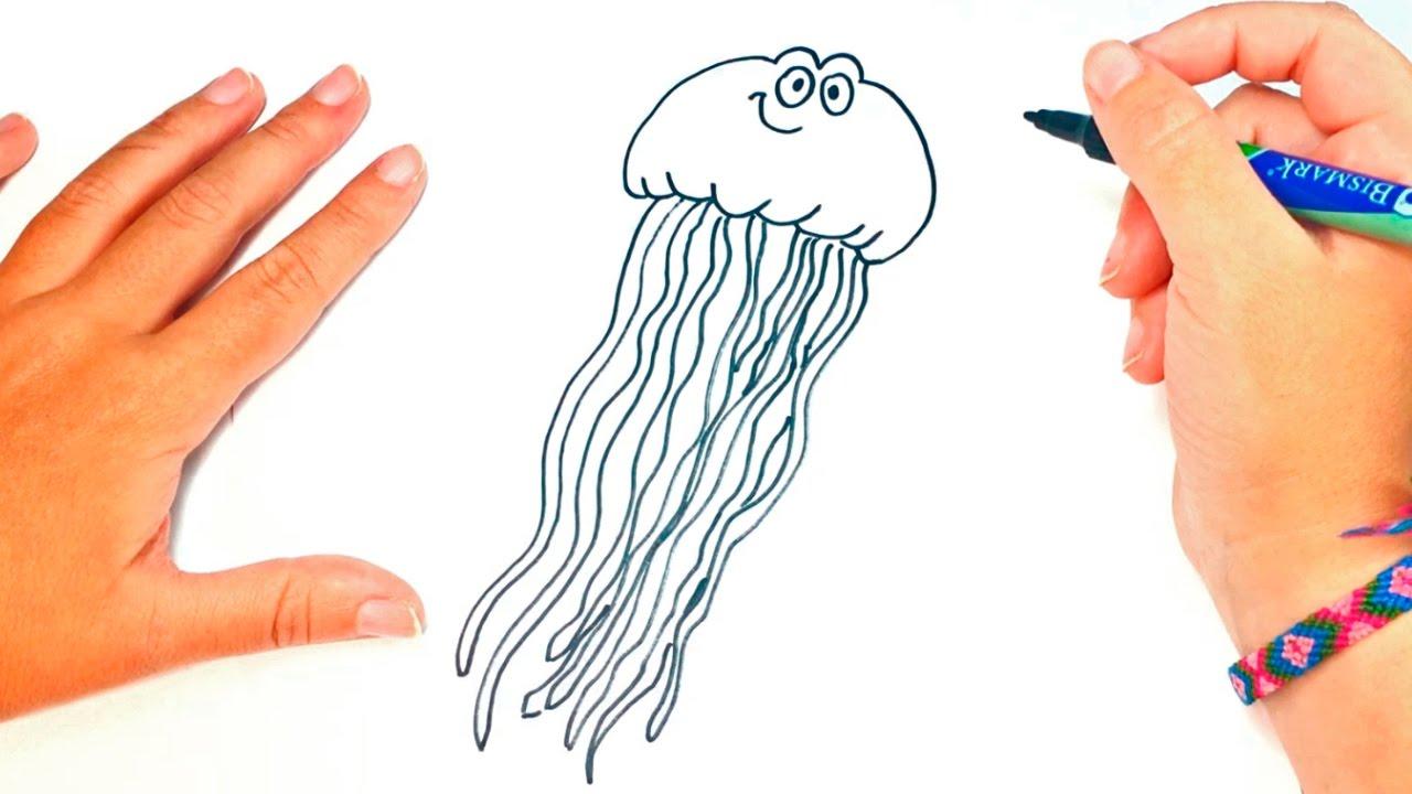 How To Draw A Jellyfish Jellyfish Easy Draw Tutorial Youtube