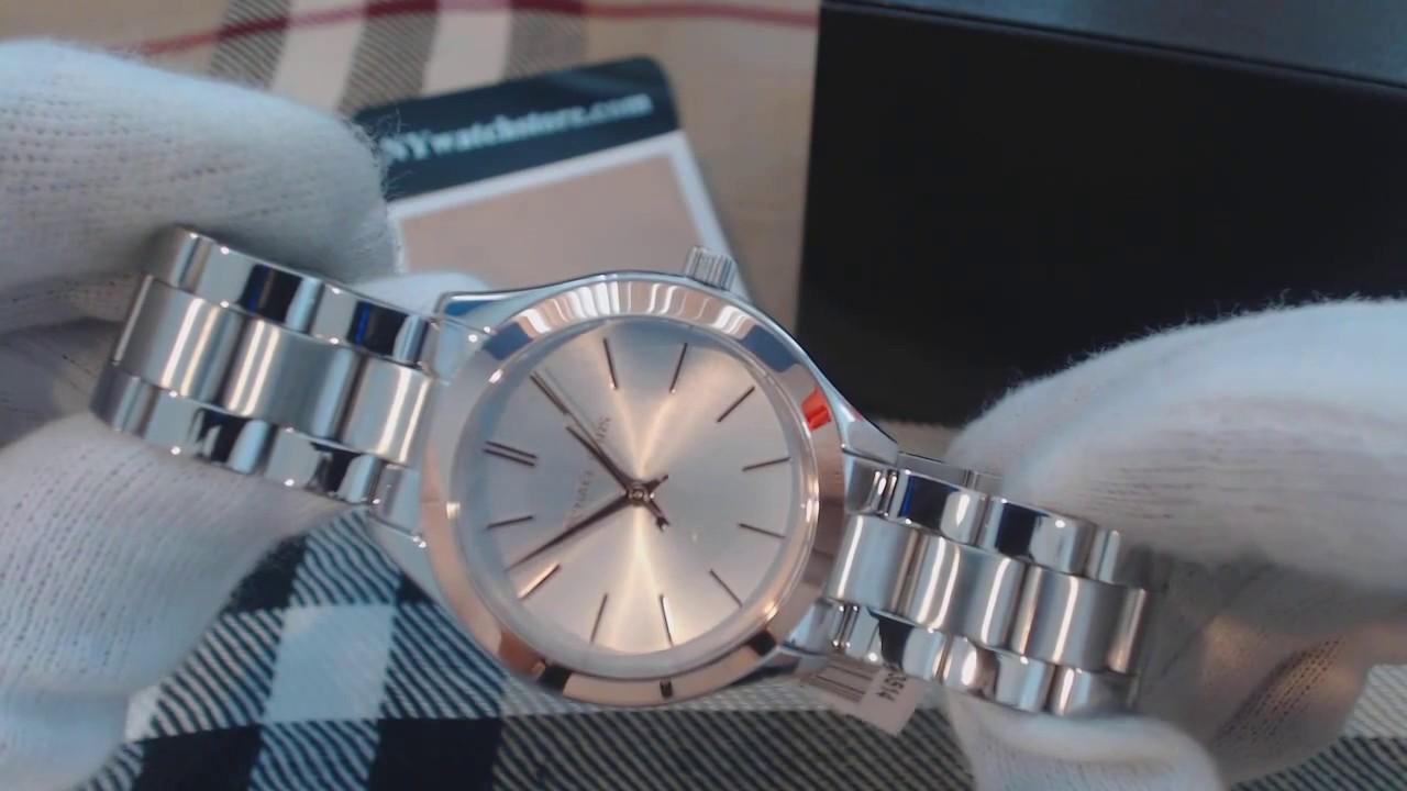 7fd429b4d194 Women s Michael Kors Mini Slim Runway Steel Watch MK3514 - YouTube