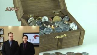 Historic Treasure Chest Of Foreign Coins