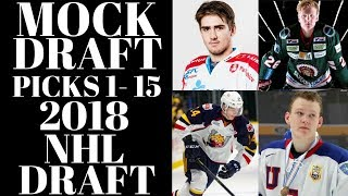 NHL Draft 2018 - NHL Mock Draft 2018 Top 15