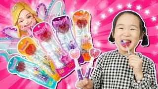 시크릿쥬쥬 LED 매직 캔디. 샤샤 로사 쥬쥬 사탕에서 불빛이 나온대요.보람튜브 사탕 같이 먹자. 시크릿쥬쥬 사탕 무슨 맛일까 - 마슈토이 Mashu ToysReview