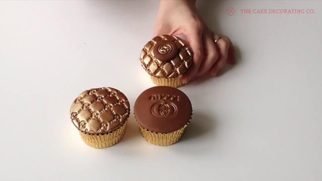 How To Make Designer Cupcakes Using Gucci Embossers