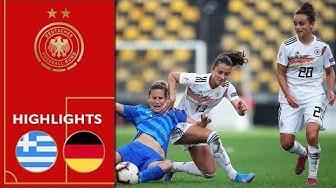 Griechenland - Deutschland 0:5 | Highlights | Frauen EM-Qualifikation