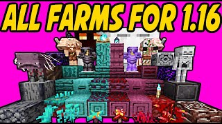 All 17 NEW Automatic Farms for 1.16+ Minecraft Nether Update!