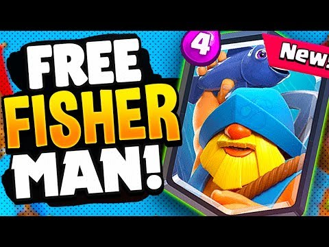 FREE LEGENDARY FISHERMAN CARD In CLASH ROYALE!!