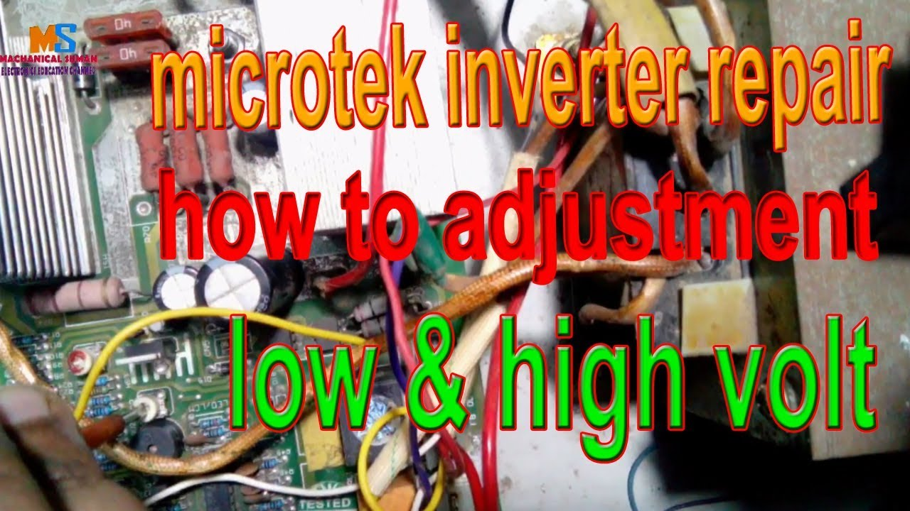 Microtek Inverter Repair How To Adjustment Low High Volt Sine Wave And Puretrue Inverters Check Out The Diagrams Set Preeset In