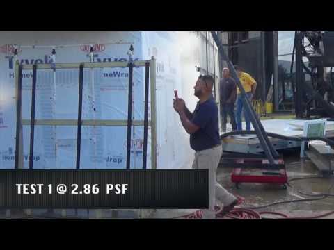 CCLI Labs ASTM E331 test | DuPont™ Tyvek® mock wall