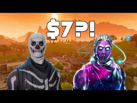 Galaxy Skin and Skull Trooper for $7?!