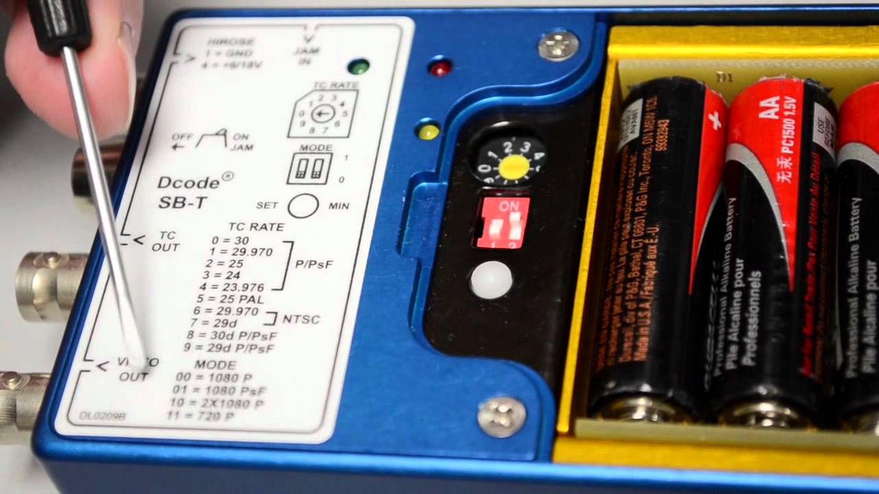 Denecke SB-T Time Code Generator / Reader and Tri-Level Sync Box