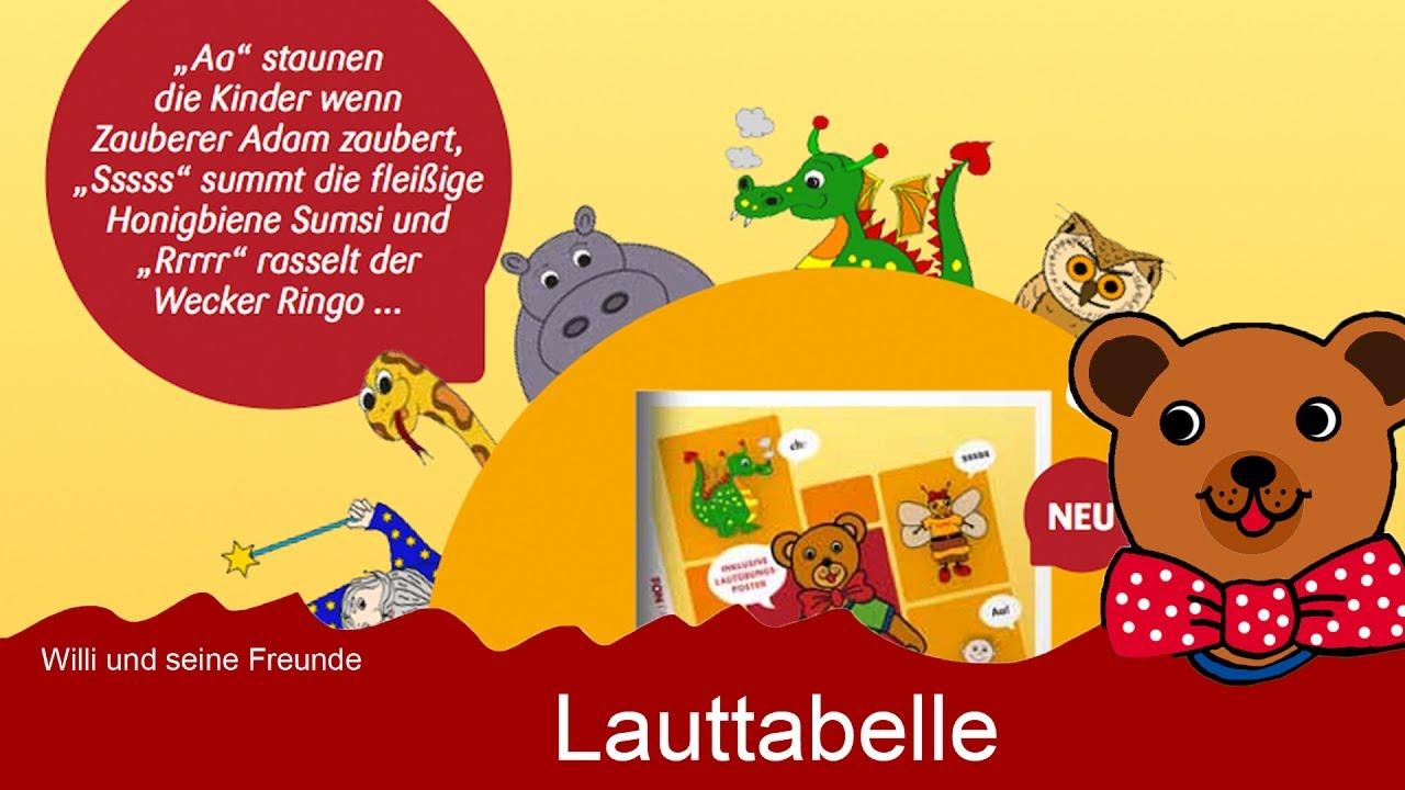 Sprachförderung - Lauttabelle zur Laut-Buchstaben-Zuordnung - Willi ...