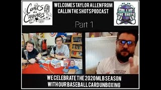 Preview : Comics On Cannabis with Callin The Shots Podcast 2020 Baseball card unboxing. Part 1