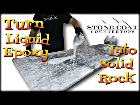 Turn Liquid Epoxy into Solid Rock epoxy countertop diy