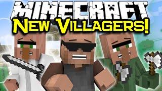 Minecraft NEW VILLAGERS!  - Helpful Villagers Mod Spotlight
