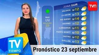 Pronóstico para este domingo 23 de septiembre   TV Tiempo