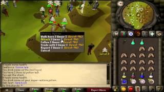 Old School Runescape 99 Strength Zerker Pure [De_Onbekende]  Pk Video 3