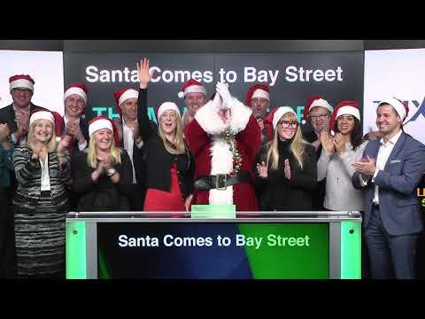 Santa Comes to Bay Street opens Toronto Stock Exchange, November 24, 2017