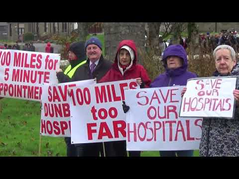 Hospitals protest in Thurso and Wick