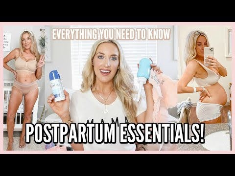POSTPARTUM ESSENTIALS! WHAT I ACTUALLY USED FOR RECOVERY | OLIVIA ZAPO