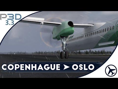 Día tormentoso | CPH - OSL | Q400 [Majestic] | Prepar3D 3.3 [IVAO]
