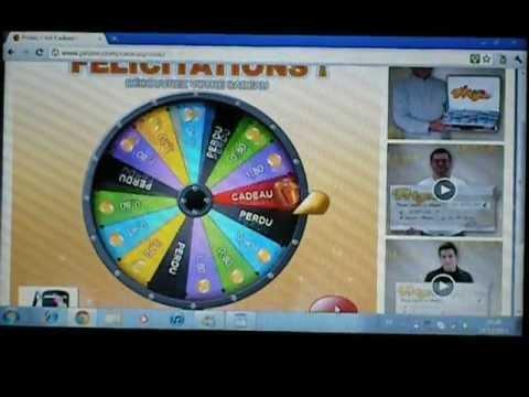 Prizee: tournée de la roue pour tenter de gagner un Smartphone Acer BeTouch E140