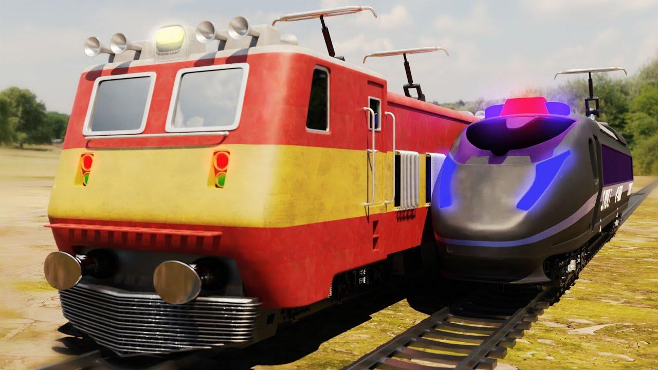 Lego Escape from Prison Funny cartoon - Lego police chase train - Choo choo train kids videos