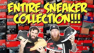 THE ENTIRE SNEAKER COLLECTION!!! BIGGEST HYPEBEAST IN THE WORLD!!!