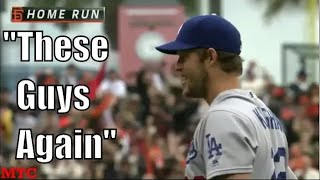 Clayton Kershaw Giving Up Home Runs to the Giants Compilation