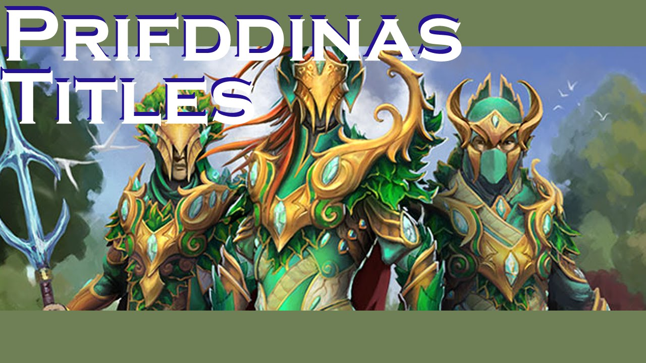 Guide To All Titles From Prifddinas Youtube