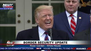 TRUMP MESSAGE: Build The Wall - FULL Border Security News Conference