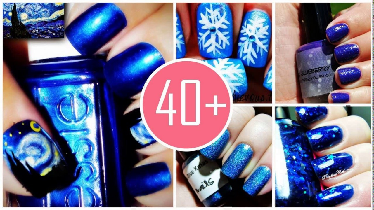 Royal Blue Nail Designs For Prom Youtube