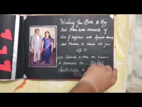 Th anniversary handmade scrapbook youtube