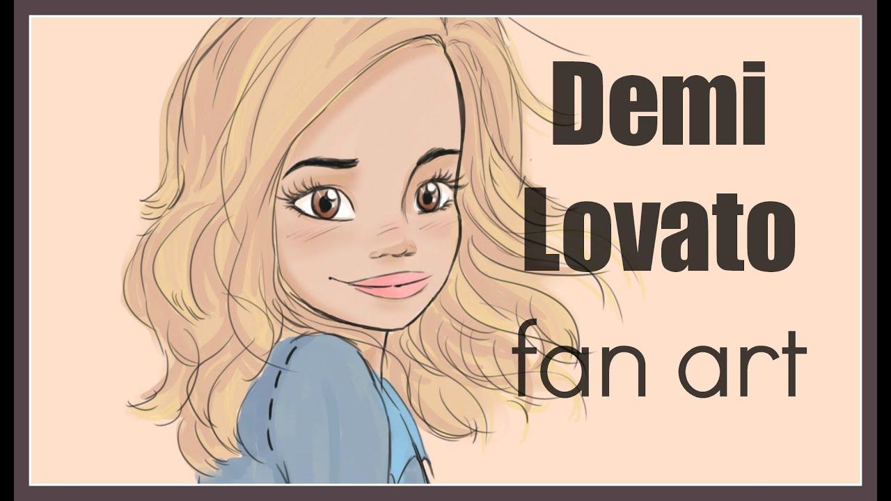 fanart drawings series demi lovato by debbyarts youtube